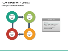 Flow chart with circles PPT slide 25