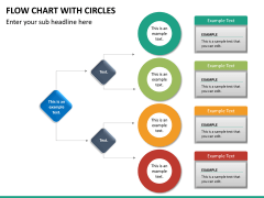 Flow chart with circles PPT slide 26