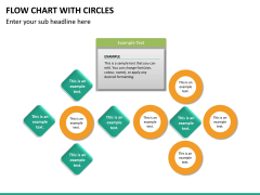 Flow chart with circles PPT slide 28