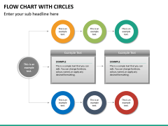 Flow chart with circles PPT slide 29
