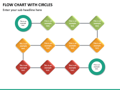 Flow chart with circles PPT slide 30