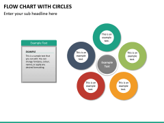 Flow chart with circles PPT slide 18