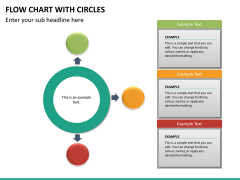 Flow chart with circles PPT slide 19