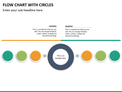 Flow chart with circles PPT slide 20
