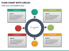 Flow chart with circles PPT slide 21