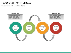 Flow chart with circles PPT slide 23