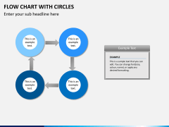 Flow chart with circles PPT slide 10