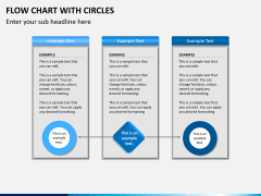 Flow chart with circles PPT slide 12