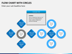 Flow chart with circles PPT slide 13