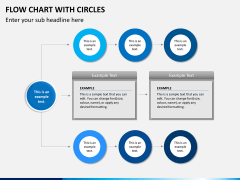 Flow chart with circles PPT slide 14