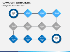 Flow chart with circles PPT slide 15