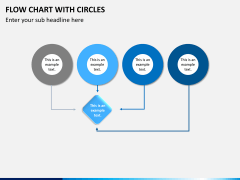 Flow chart with circles PPT slide 2