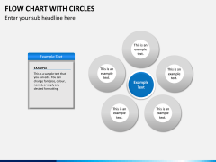Flow chart with circles PPT slide 3