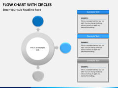 Flow chart with circles PPT slide 4