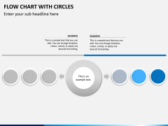 Flow chart with circles PPT slide 5