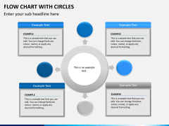 Flow chart with circles PPT slide 6