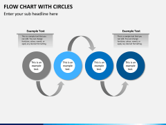 Flow chart with circles PPT slide 8