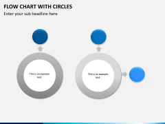 Flow chart with circles PPT slide 9
