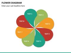 Flower diagram PPT slide 15