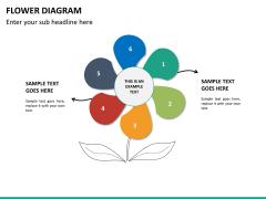 Flower diagram PPT slide 16