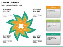 Flower diagram PPT slide 19