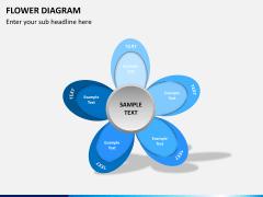 Flower diagram PPT slide 12