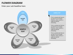 Flower diagram PPT slide 13