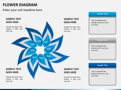 Flower diagram PPT slide 5