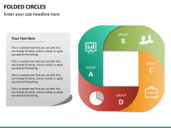 Folded circles PPT slide 5