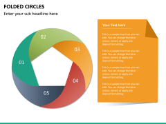 Folded circles PPT slide 8