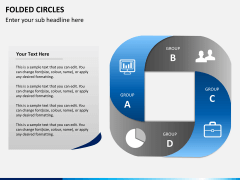 Folded circles PPT slide 1