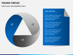 Folded circles PPT slide 2
