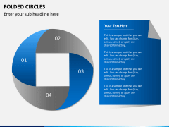 Folded circles PPT slide 3