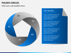 Folded circles PPT slide 4