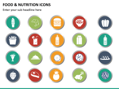 Food nutrition icons PPT slide 12