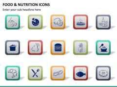 Food nutrition icons PPT slide 13