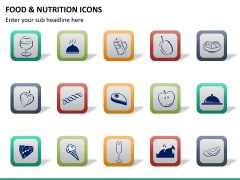 Food nutrition icons PPT slide 14