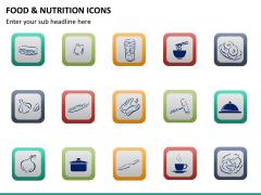 Food nutrition icons PPT slide 15