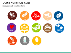 Food nutrition icons PPT slide 16
