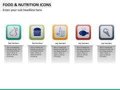 Food nutrition icons PPT slide 17