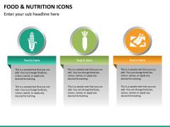 Food nutrition icons PPT slide 18