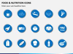 Food nutrition icons PPT slide 1
