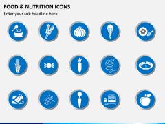 Food nutrition icons PPT slide 2