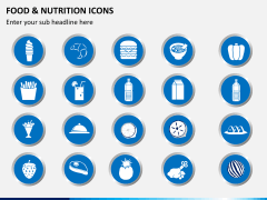 Food nutrition icons PPT slide 3
