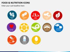 Food nutrition icons PPT slide 7