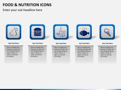 Food nutrition icons PPT slide 8