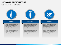 Food nutrition icons PPT slide 9
