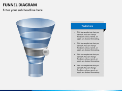 Funnel diagram PPT slide 2