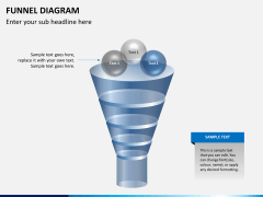 Funnel diagram PPT slide 3
