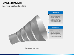 Funnel diagram PPT slide 6